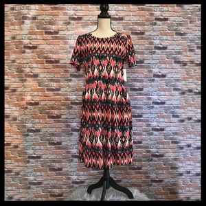 NWT LulaRoe Amelia Printed Dress